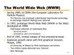 the world wide web www