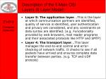description of the 5 main osi layers 5 layer model