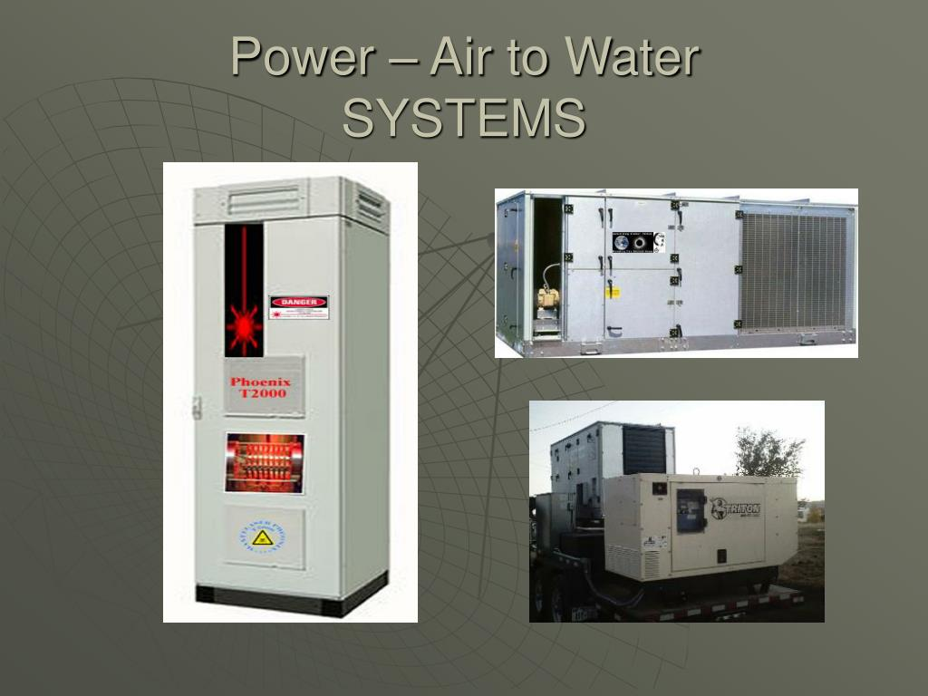Power – Air to Water