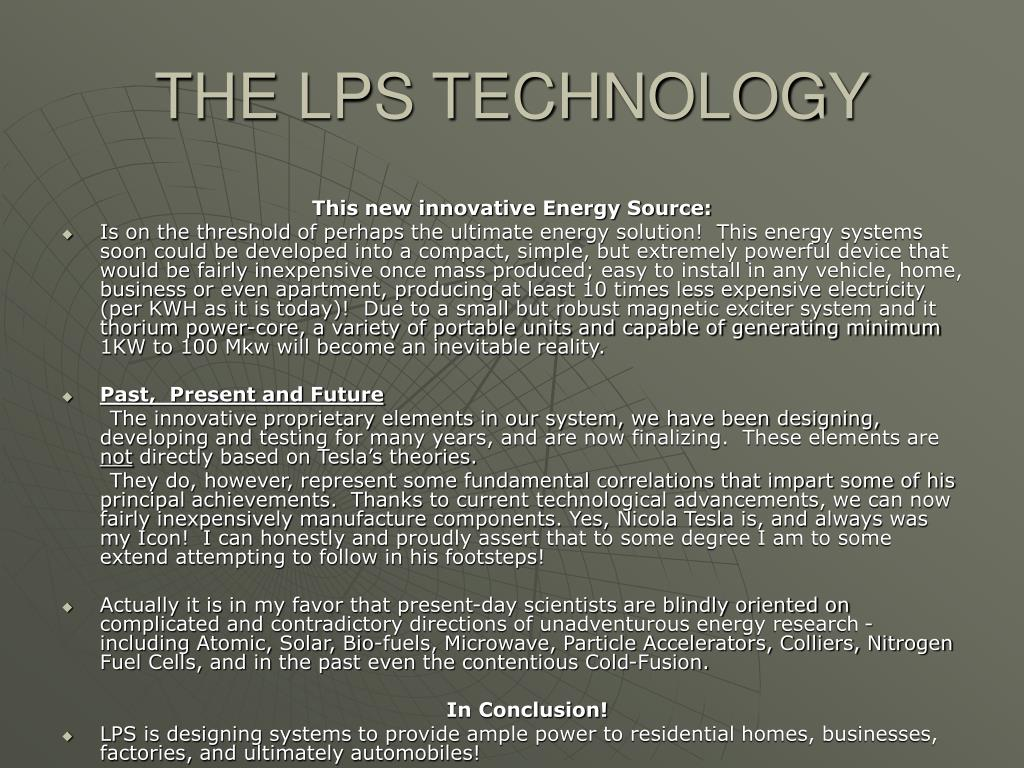 THE LPS TECHNOLOGY