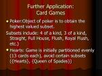 further application card games