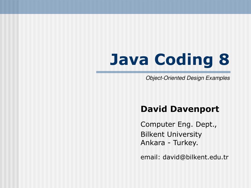 java coding 8 l.