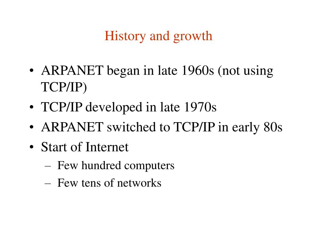 History and growth