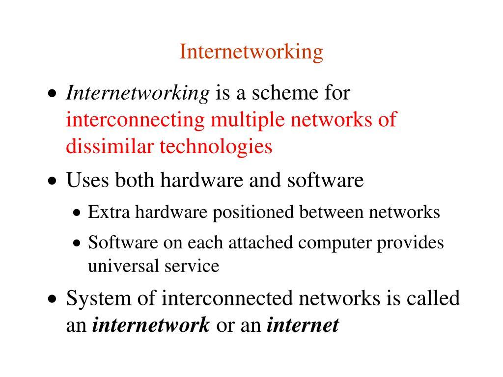 Internetworking