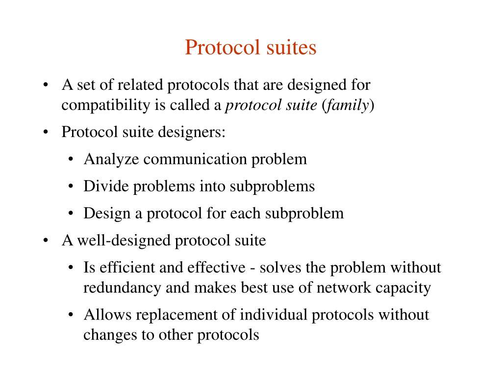 Protocol suites