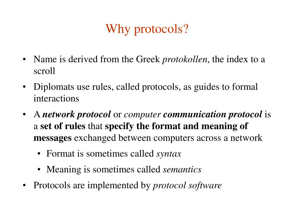Why protocols?