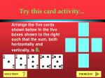 try this card activity