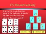 try this card activity6