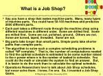 what is a job shop