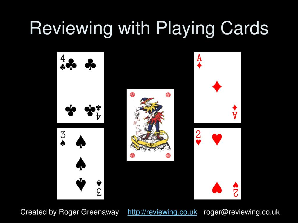 reviewing with playing cards l.