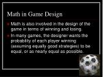math in game design
