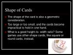 shape of cards