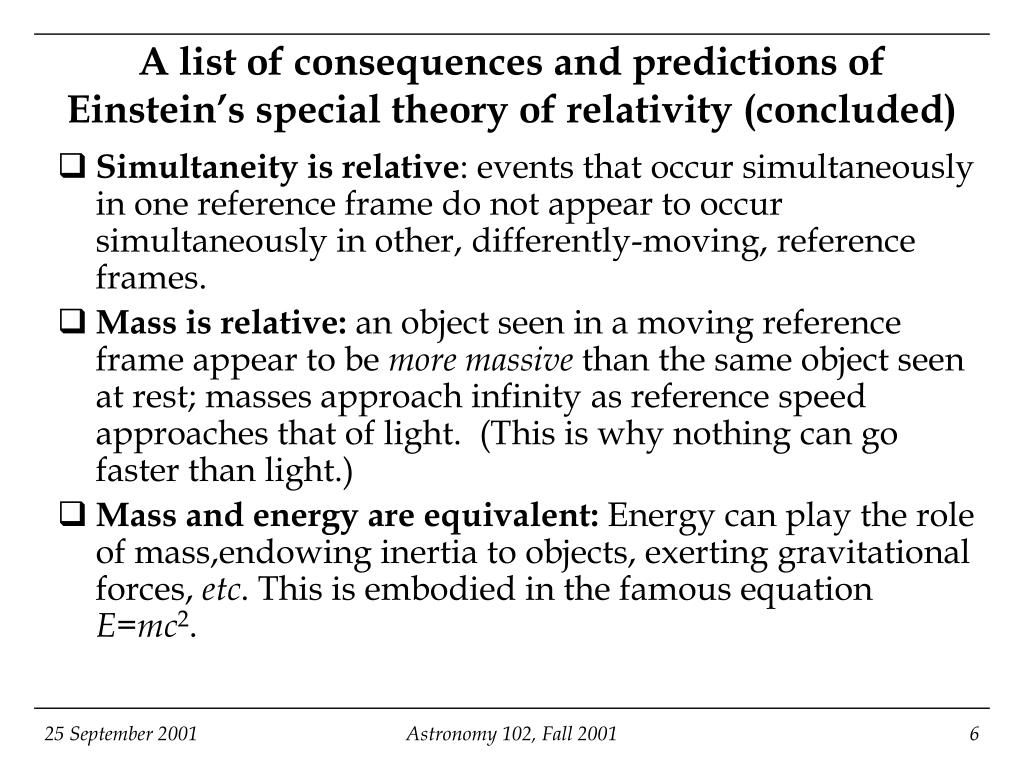 an analysis of einsteins special theory of relativity based on the idea of reference frames