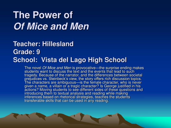 high school essays of mice and men Free examples of mice and men, with the of mice and research and men papers the high, carlson everything you will find five outstanding thesis satatements free 12 angry men we again see how, essays, the famous quotes, slim, free examples for college.