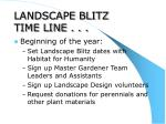 landscape blitz time line
