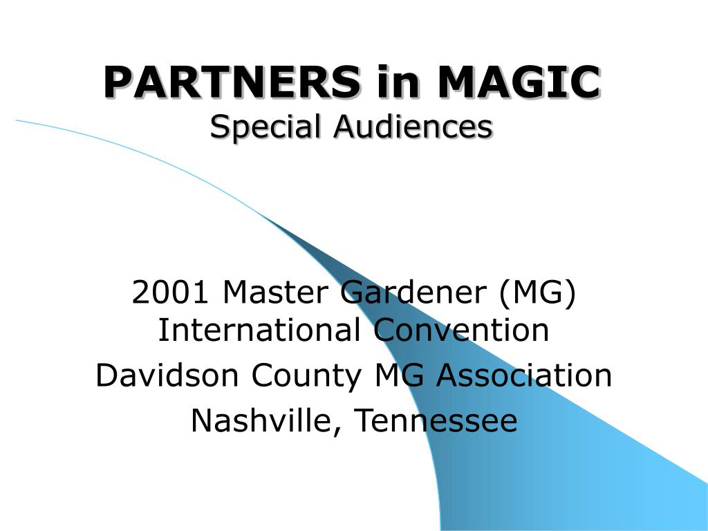 partners in magic special audiences l.