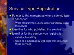 service type registration
