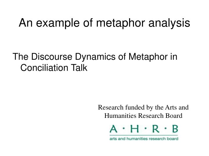 Ppt What Is Metaphor And Why Does It Matter Lynne Cameron