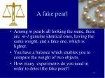 a fake pearl