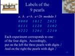 labels of the 9 pearls