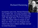 richard hamming
