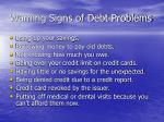 warning signs of debt problems21