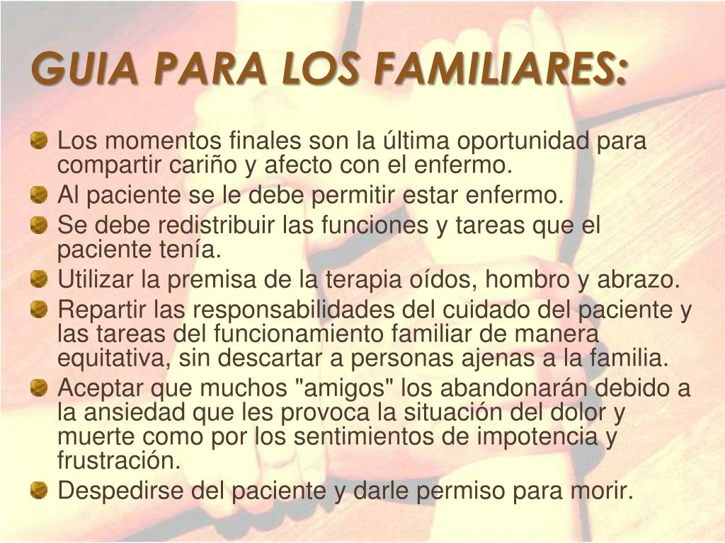 GUIA PARA LOS FAMILIARES: