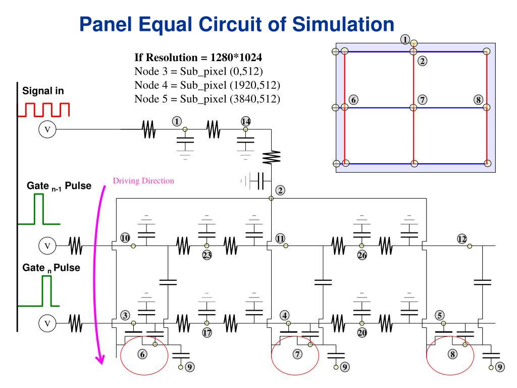 Panel Equal Circuit of Simulation