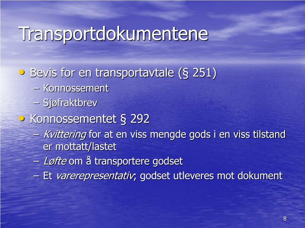 Transportdokumentene