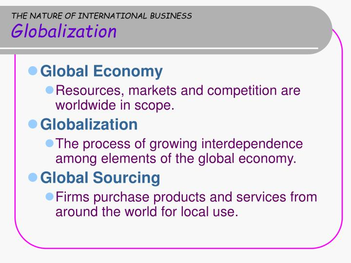 nature of international business pdf