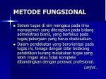 metode fungsional
