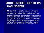 model model pkp di rs luar negeri