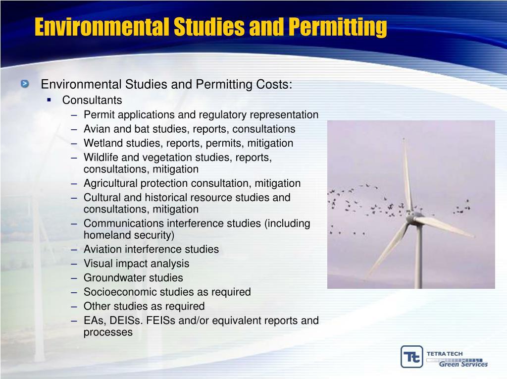 Environmental Studies and Permitting