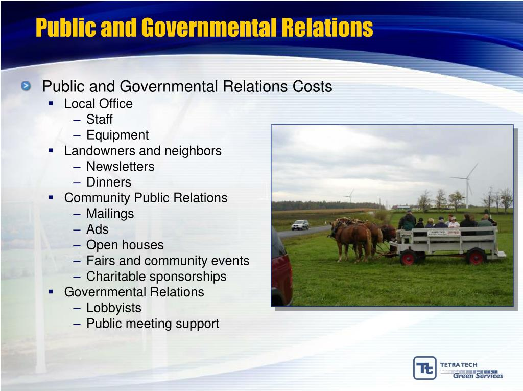 Public and Governmental Relations