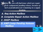 d awp comp pending release mailbox