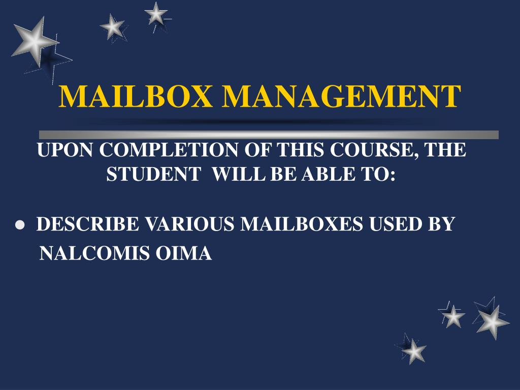 mailbox management l.