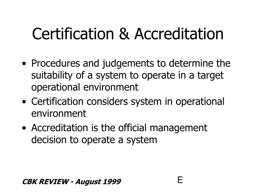 Certification & Accreditation