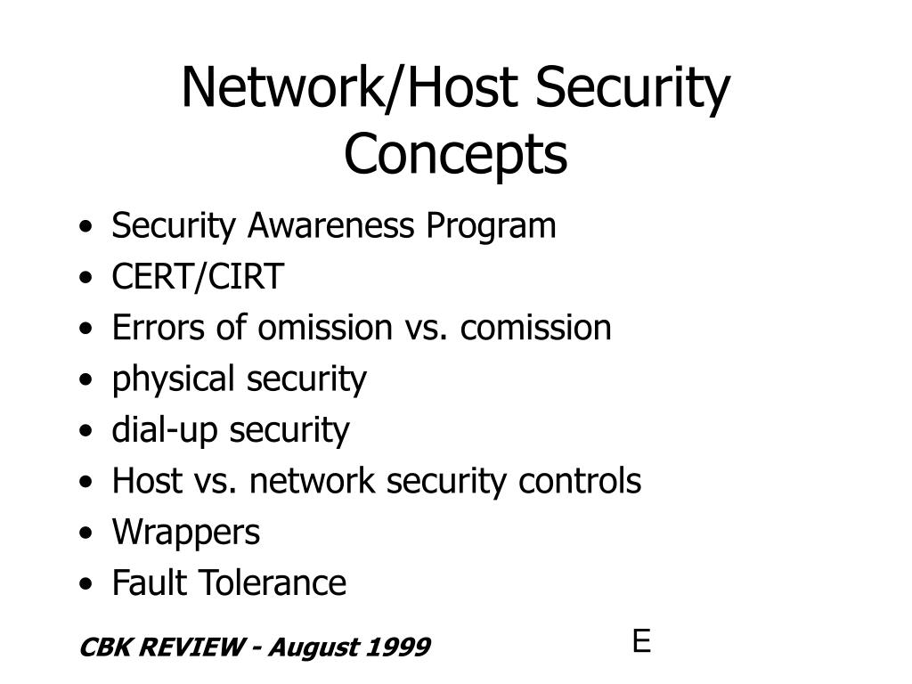 Network/Host Security Concepts