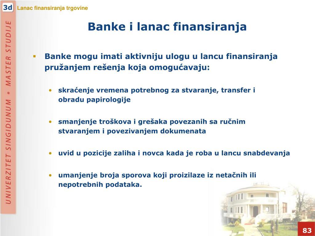 Banke i lanac finansiranja