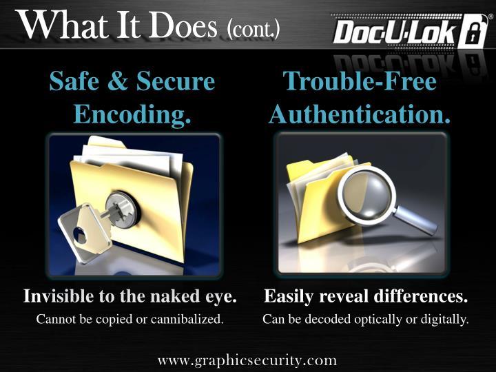 Safe secure encoding
