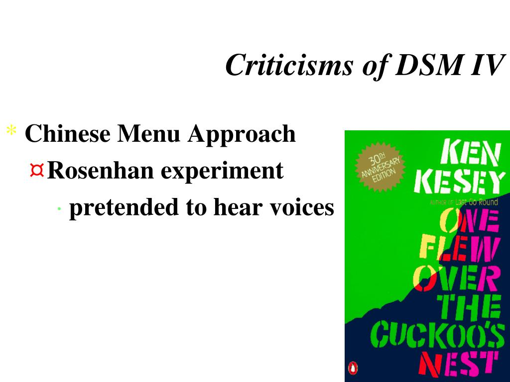 Criticisms of DSM IV