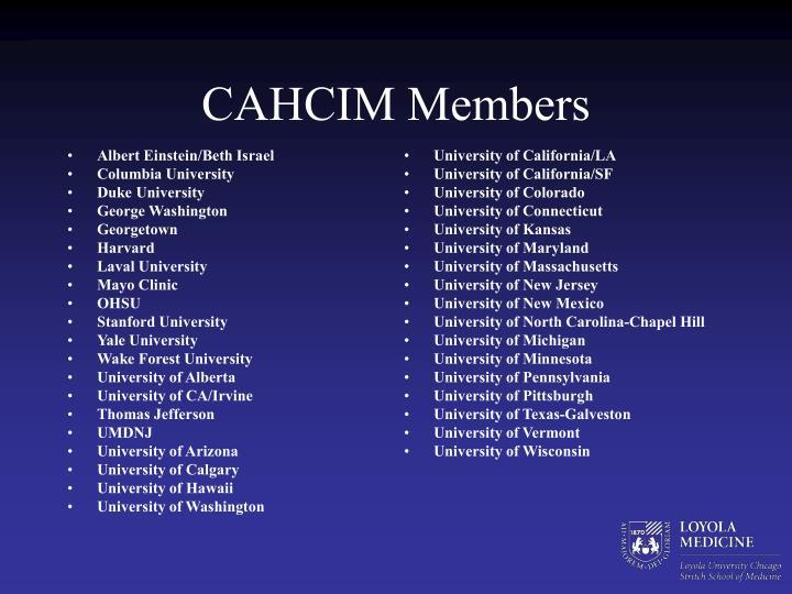 Resultado de imagen de CAHCIM