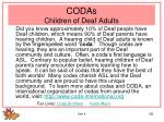 codas children of deaf adults