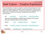deaf culture creative expression