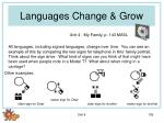languages change grow
