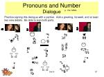 pronouns and number dialogue
