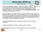shoulder shifting eyes on asl 8