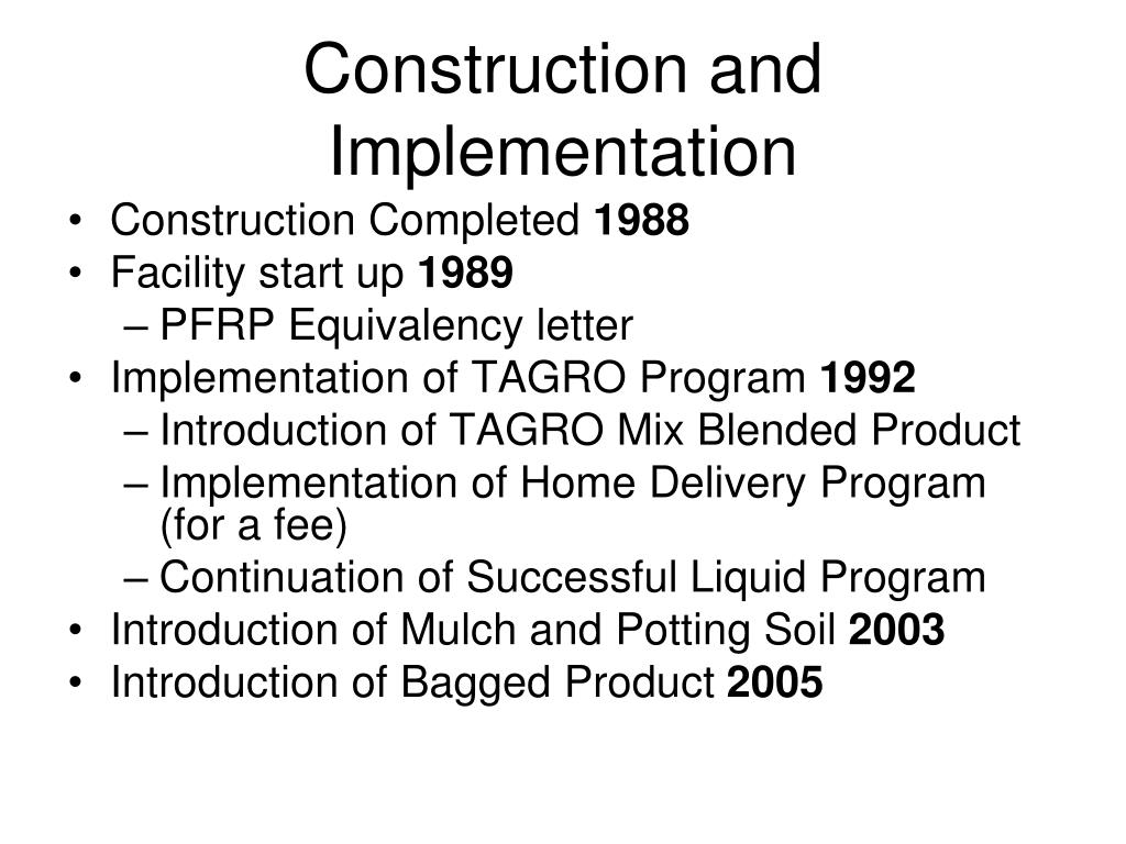 Construction and Implementation