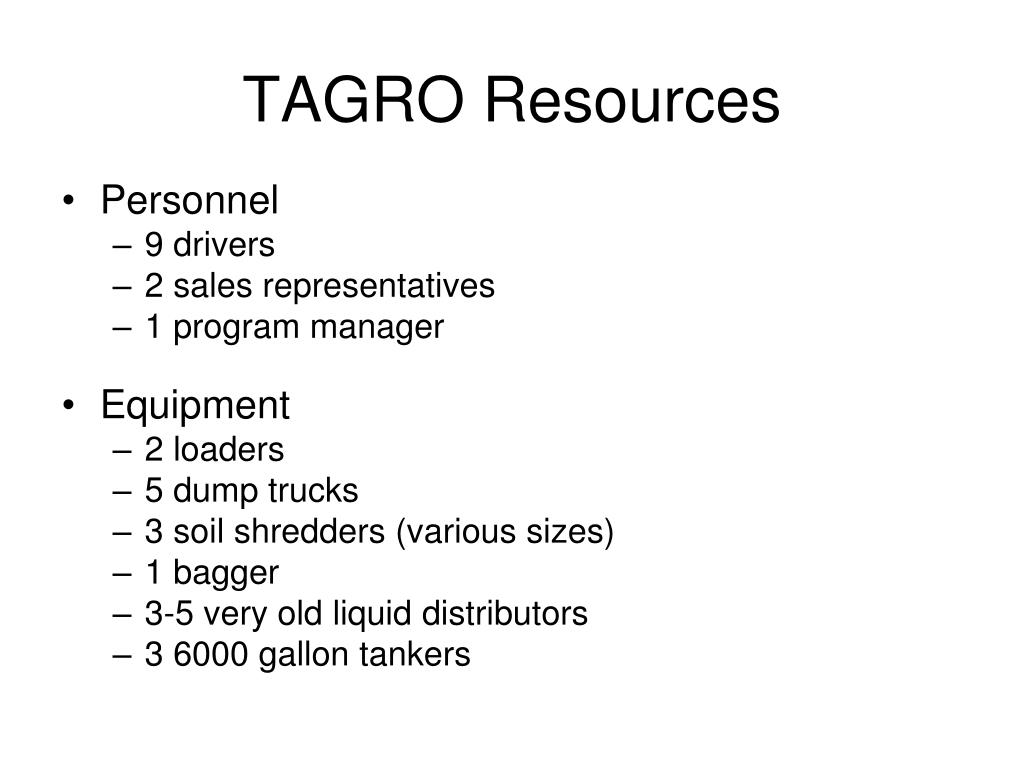 TAGRO Resources