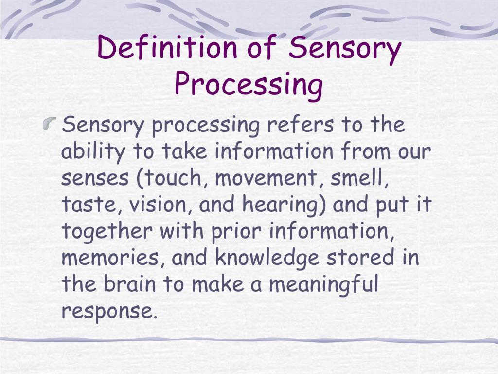 Ppt Sensory Processing Differences Powerpoint Presentation Free